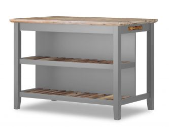 Florence Breakfast Bar with shelves - Dove Grey