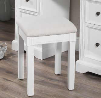 Gainsborough Upholstered Stool - White