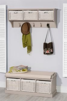 Tetbury Large Coat Rack and Bench set - Truffle