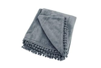 Cashmere Touch Fleece Throw Charcoal (130x170)