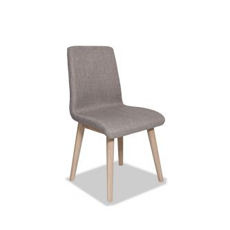 Edvard Olsen Dining Chair (Taupe Fabric) - Light Oak