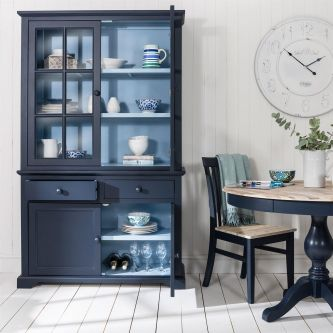 Florence Display Cabinet Dresser- 2 Tone - Navy Blue