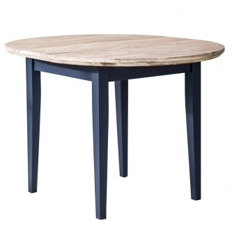 Florence Round Extended Table (92-117cm) - Navy Blue