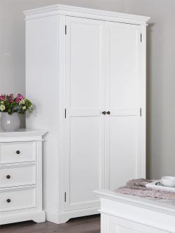 Gainsborough Double Wardrobe (2 door) White