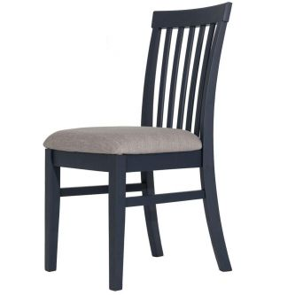 Florence High Back Upholstered Chair - Navy Blue