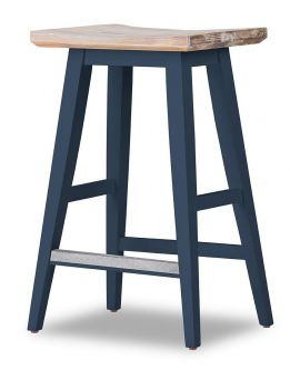 Florence Square Seat Bar Stool - Navy Blue