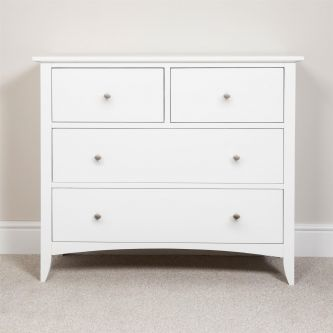 Edward Hopper White Chest of Drawers (2 over 2)