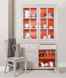 Florence Display Cabinet Dresser - Orange and Truffle