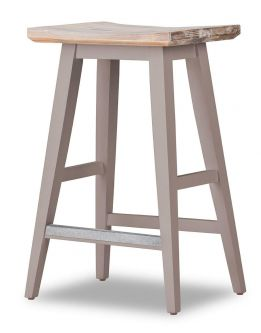 Florence Bar Stool with Curved Seat - Truffle