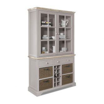 Florence Display Cabinet with Wine Rack - Truffle