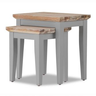 Florence Nest of 2 Tables / Lamp Tables - Dove Grey