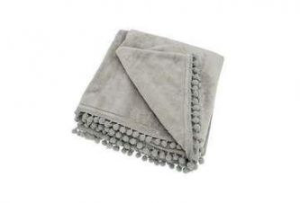 Cashmere Touch Fleece Throw Grey (130x170)