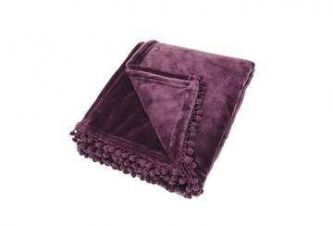 Cashmere Touch Fleece Throw Aubergine (130x170)
