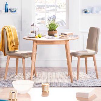 Edvard Olsen Round Table (100/100) - Golden Oak