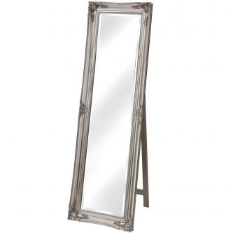 Antique Silver Cheval Mirror
