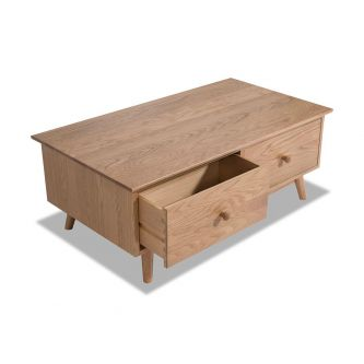 Edvard Olsen Coffee Table (4 drawer) - Golden Oak