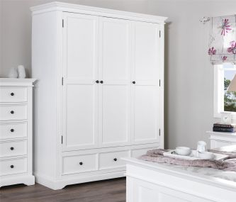 Gainsborough Triple Wardrobe  (3 door) - White