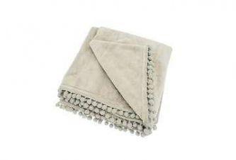 Cashmere Touch Fleece Throw Linen (130x170)