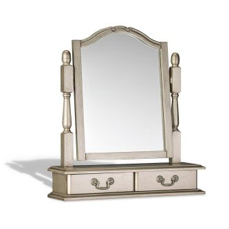 Juliette Tarnished Silver Trinket Mirror
