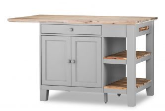Florence Kitchen Island - Dove Grey