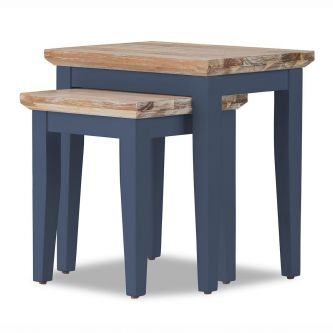 Florence Nest of 2 Tables / Lamp tables - Navy Blue