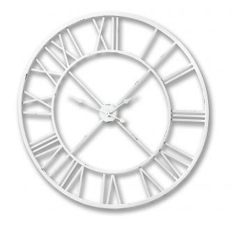 Antique White Skeleton Wall Clock