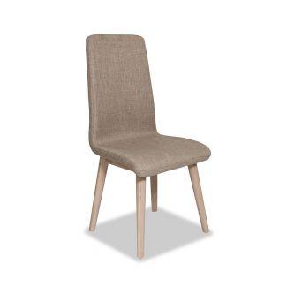 Edvard Olsen Highback Chair (Brown Fabric) - Light Oak