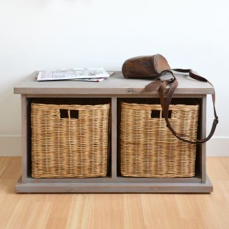 Tetbury Acacia Small Storage Bench