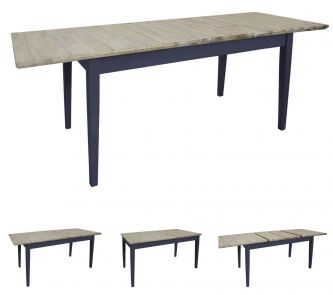 Florence Large Rectangular Centre Extension Kitchen Table (140/170/200) - Navy Blue