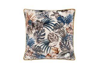 Walton & Co Paradis Botanical Blue Palm cushion