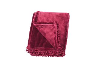 Walton & Co cashmere touch fleece orchid pink throw