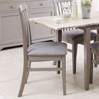 florence grey high back upholstered chair