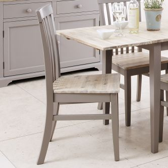 florence grey highback chair