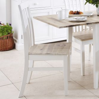 florence white highback chair