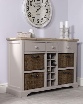 Florence Sideboard with Wine Rack - Truffle