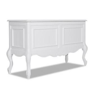Juliette White Ottoman Blanket Storage Box