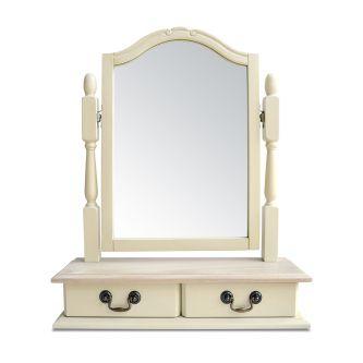 Juliette champagne trinket mirror