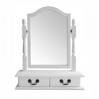 Juliette Antique White Trinket Mirror