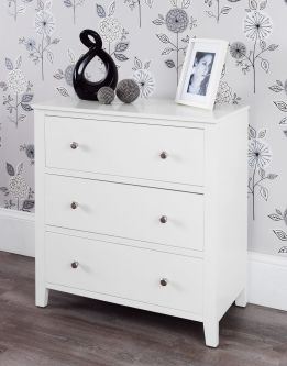 Brooklyn White Chest of Drawers - 3 Drawer