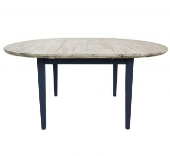 Florence large Round /Oval Extended Table (115-160cm) - Navy Blue