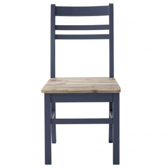 Florence Country Style Chair - Navy Blue