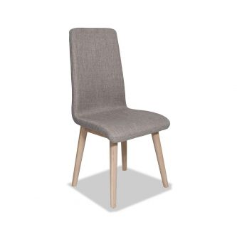 Edvard Olsen Highback Chair (Taupe Fabric) - Light Oak