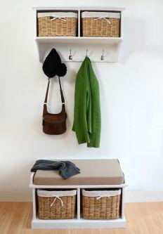 Tetbury hanging shelf and bench set