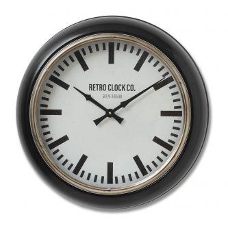 Deep Rim Retro Clock