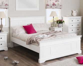 Gainsborough White 4ft6 Double Bed Frame – Hamptons Style