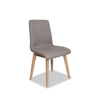 Edvard Olsen Dining Chair (Taupe Fabric) - Golden Oak