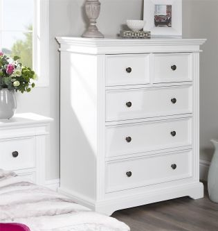 Gainsborough Chest of Drawers (2 over 3) - White
