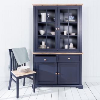 Florence Display Cabinet Dresser - Navy Blue