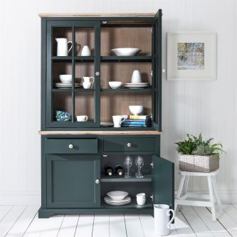 Florence Display Cabinet Dresser - Bottle Green