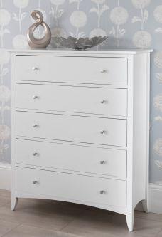 Edward hopper white 5 drawer chest